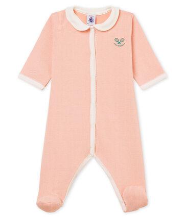 Baby-Strampler in Rippstrick für Mädchen