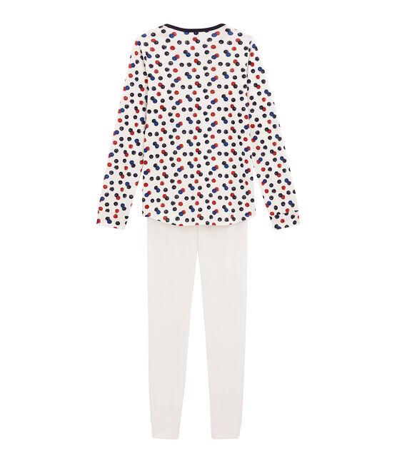 Kurzer Teenie Mädchen Schlafanzug weiss Marshmallow / weiss Multico