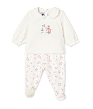 b193eda4b1 Baby-Mädchen-Schlafanzug mit Fuß | Petit Bateau