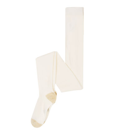 Kinder-Strumpfhose Mädchen weiss Marshmallow