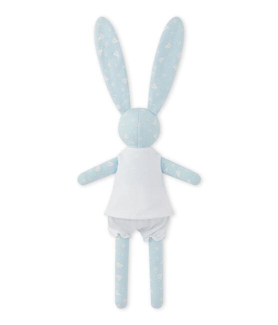 Bedruckter Kuschelhase blau Toudou / weiss Ecume