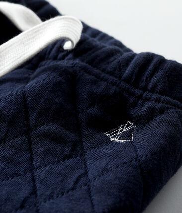 Hose für Baby Jungen aus Rundstrick blau Smoking