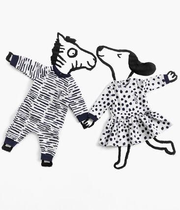 Langer Baby-Overall für Jungen von Jean Jullien MARSHMALLOW/DASH