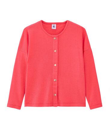 Kinder-Cardigan Mädchen rosa Groseiller