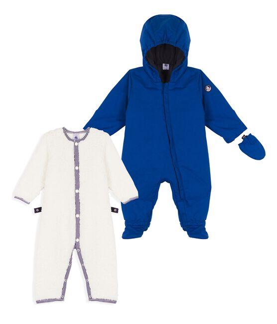 3-In-1-Baby-Fliegerorverall für Jungen blau Limoges