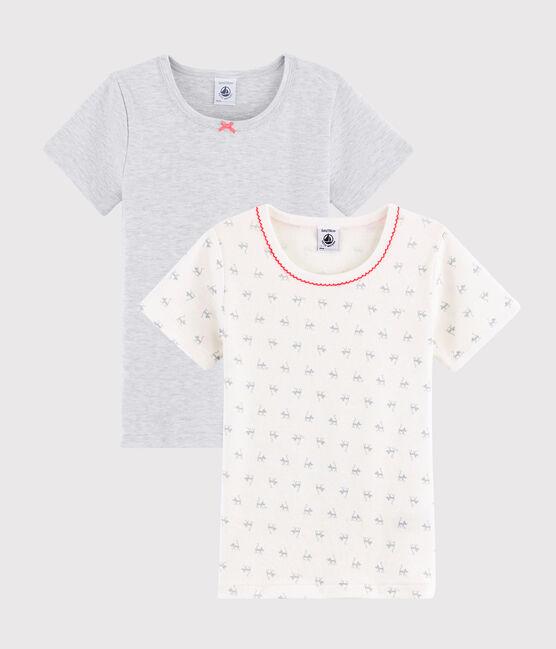 2er-Set kurzärmlige T-Shirts mit Katzen-Print für kleine Mädchen lot .