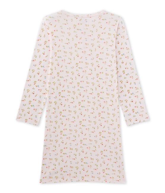 Chemise de nuit fille à imprimé petites fleurs rosa Vienne / weiss Multico
