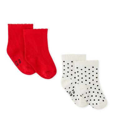 Baby-Mädchen-Socken im 2er-Set lot .
