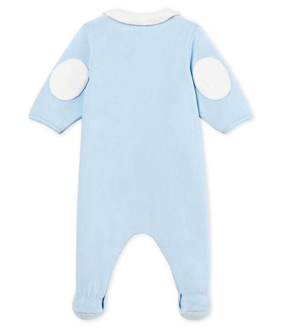 Baby-strampler jungen aus baumwoll-samt blau Fraicheur
