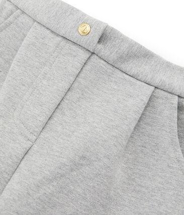 Hose aus Wirkware für Mädchen grau Subway