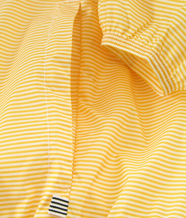 Kurze winddichte jacke unisex gelb Honey / weiss Marshmallow