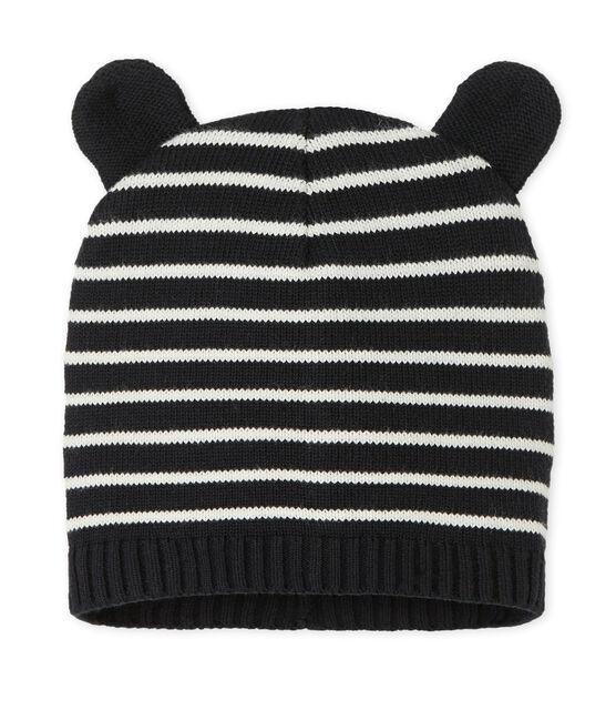 Baby-Mütze für Jungen blau Smoking / weiss Marshmallow