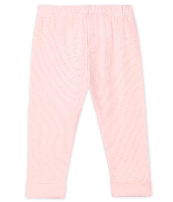 Babyhose aus einfarbigem Strick für Mädchen rosa Minois