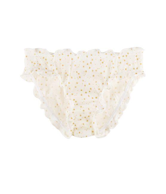 Unterhose für kleine Mädchen weiss Marshmallow / gelb Or