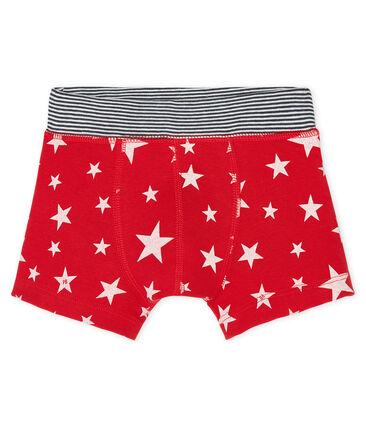 Boxershorts für kleine Jungen rot Terkuit / weiss Marshmallow