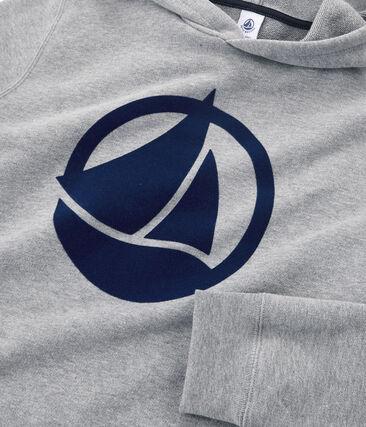 Unisex-Sweatshirt für Erwachsene aus beflocktem Molton grau Subway