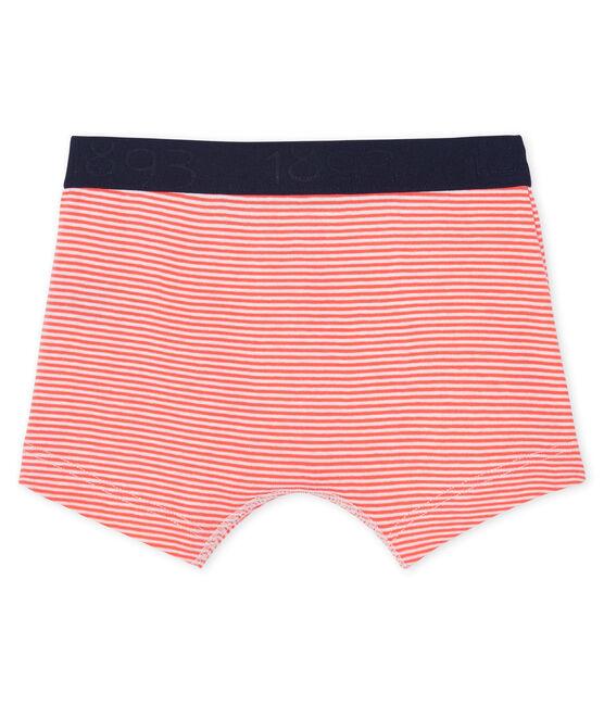 Boxershorts für kleine Jungen orange Orient / weiss Marshmallow