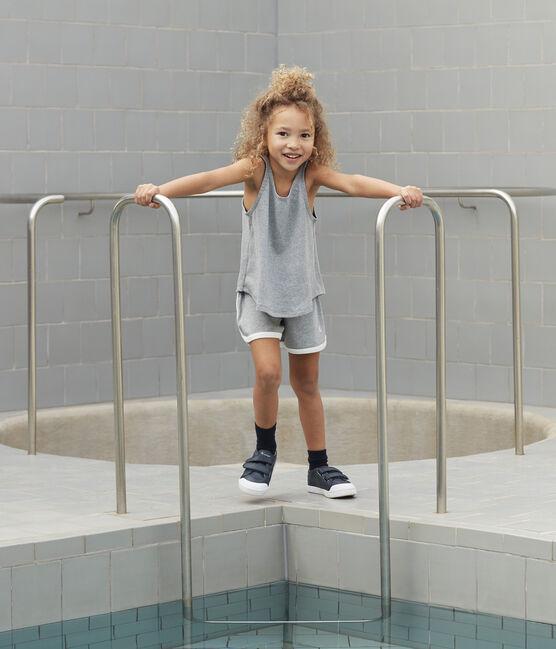 Kinder-Sportshorts für Mädchen grau Subway