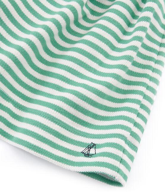 Kinder-Shortrock Mädchen grün Aloevera / weiss Marshmallow