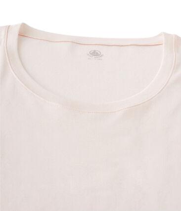 Langärmliges T-Shirt mit Tänzerinnenkragen für Damen rosa Fleur