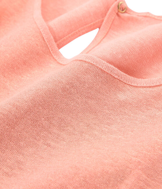 Schillerndes damen tanktop aus leinen rosa Rosako / rosa Copper
