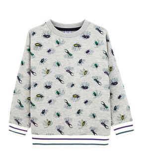 Kinder-Sweatshirt für Jungen grau Beluga / weiss Multico