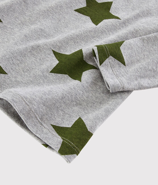 Bedrucktes Kinder-T-Shirt für Jungen grau Subway / weiss Multico