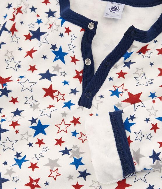 Pyjama aus Doppeljersey für kleine Jungen weiss Marshmallow / weiss Multico