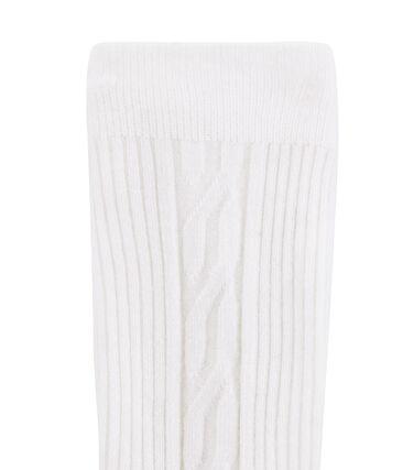 Warme Kinder-Strumpfhose für Mädchen weiss Marshmallow
