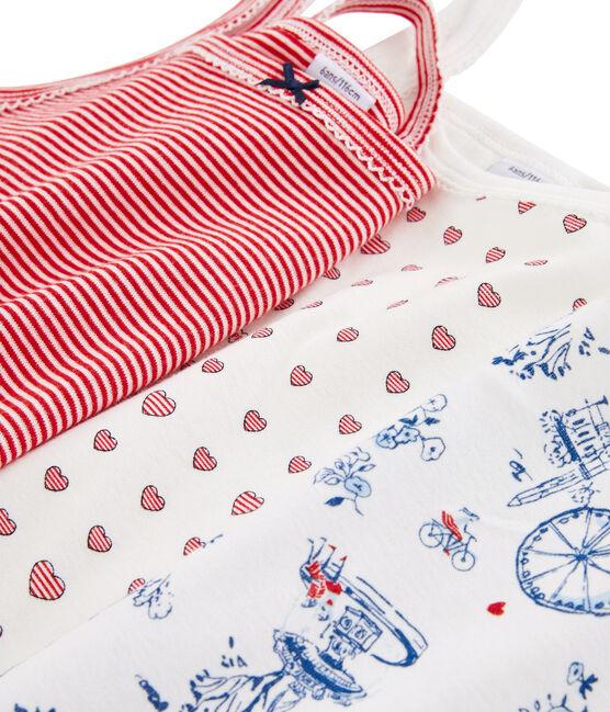 3er-Set Trägerhemden für kleine Mädchen lot .