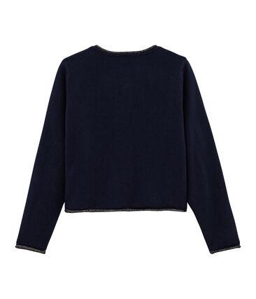Strick-Cardigan für Mädchen blau Smoking