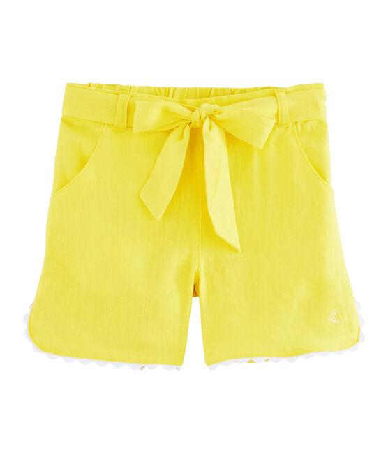 Kinder-Bermuda für Mädchen gelb Eblouis
