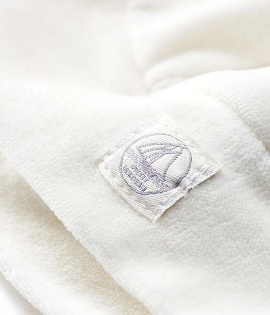 Babymützchen aus Rippstrick für Neugeborene weiss Marshmallow