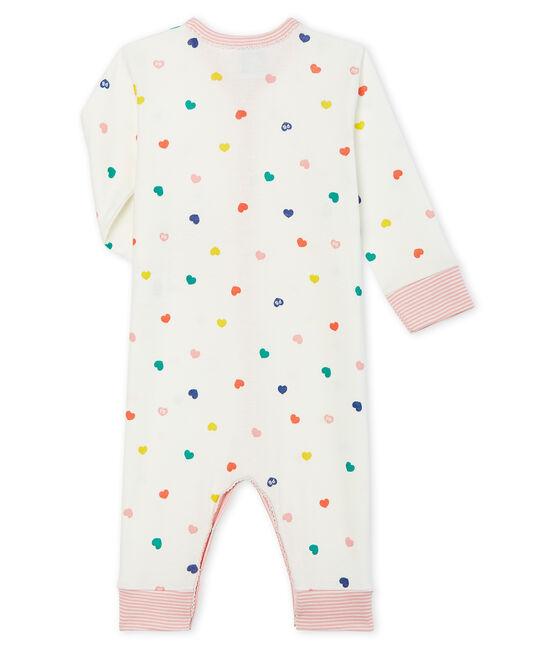 Baby-Strampler ohne Fuß aus Rippstrick für Mädchen weiss Marshmallow / weiss Multico Cn