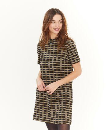Kurzärmliges Kleid mit Karomuster für Damen lot .