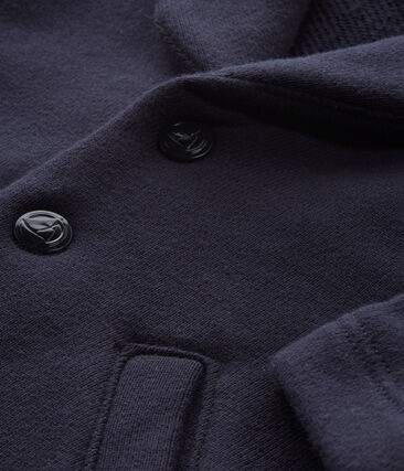 Baby-Jacke aus Molton für Jungen blau Smoking