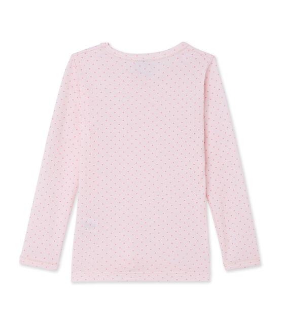T-Shirt, Langarm, für Mädchen aus Wolle und Baumwolle rosa Vienne / rosa Gretel
