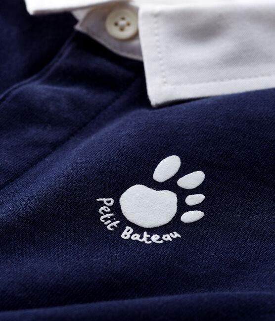 Langärmliges Baby-Poloshirt für Jungen blau Smoking