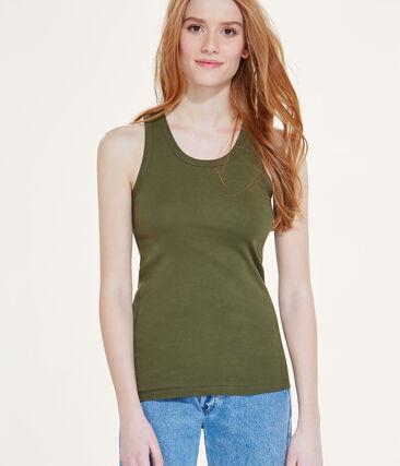 Damen-Top aus Original-Rippstrick grün Litop