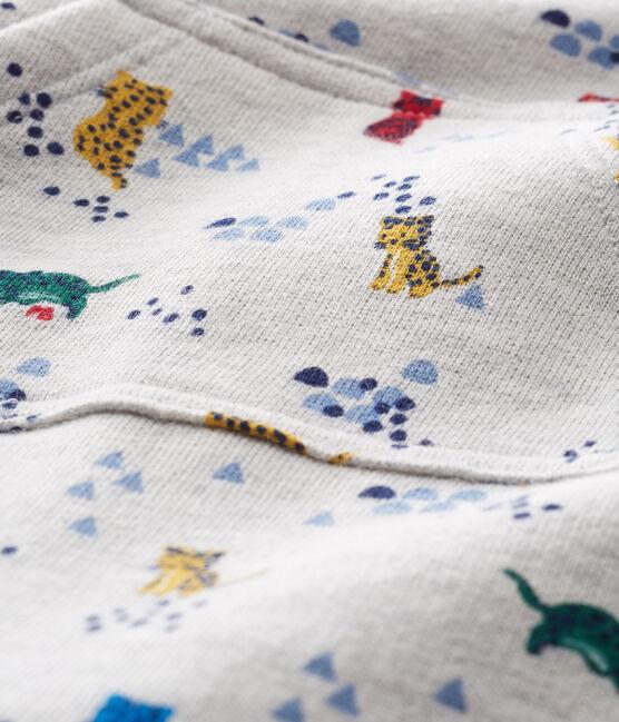 Gemusterter Baby-Langoverall für Jungen grau Beluga / weiss Multico