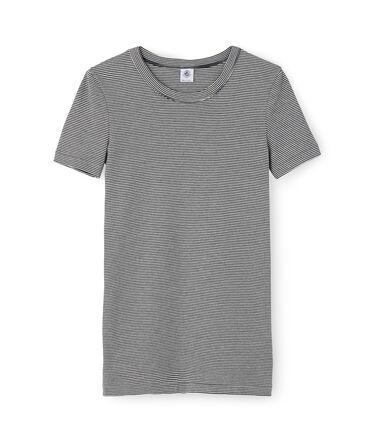 Ikonisches Damen-T-Shirt blau Smoking / weiss Marshmallow