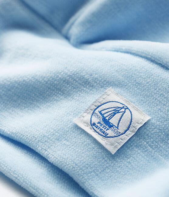 Babymützchen für Neugeborene aus Velours blau Toudou