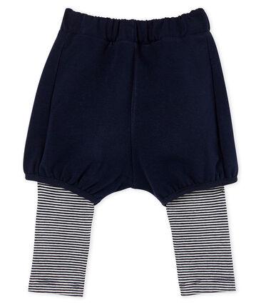 Baby-Legging mit Short für Mädchen blau Smoking / weiss Marshmallow