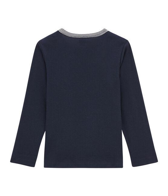 Jungen-Langarmshirt blau Smoking