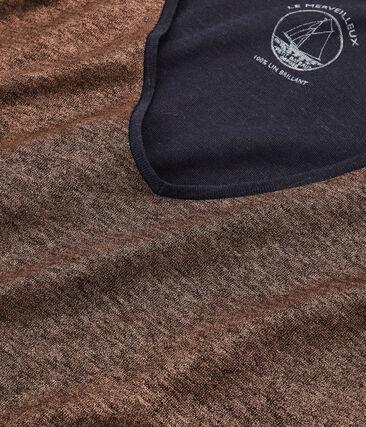 Schillerndes langärmeliges damen-t-shirt aus leinen