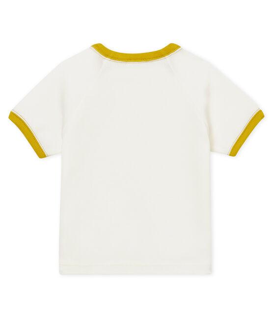 Kurzärmeliges gemustertes baby-t-shirt jungen weiss Marshmallow