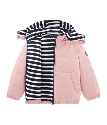 Wattierte Kinder-Jacke rosa Charme