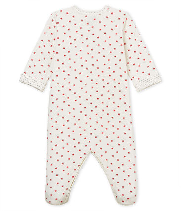 Baby Strampler aus gedoppeltem Jersey für Mädchen