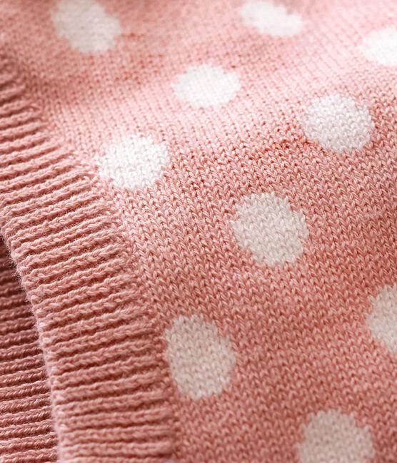 Originelle Unisex Baby Schlupfmütze rosa Joli / weiss Marshmallow