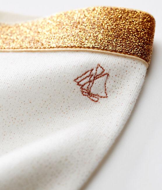 Baby-leggings mit pailletten mädchen weiss Marshmallow / rosa Copper